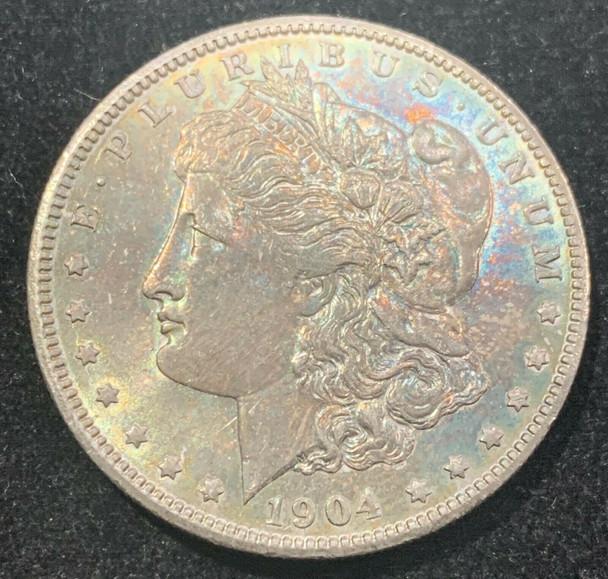 1904-O Silver Morgan Dollar- Toned