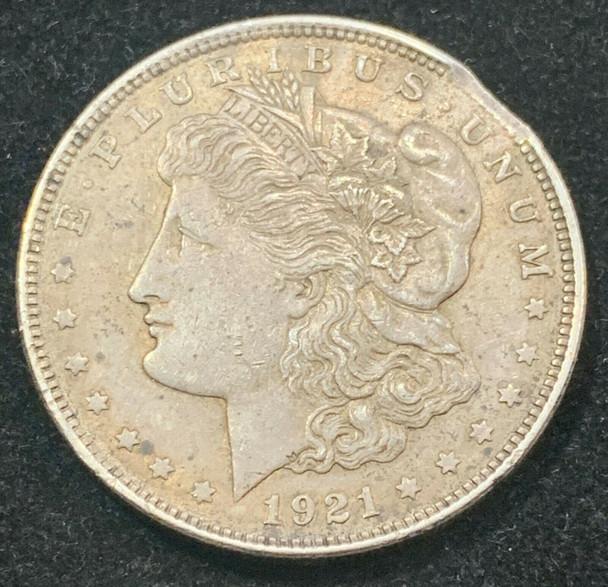 "1921 Silver Morgan Dollar Mint Error ""Clipped"""