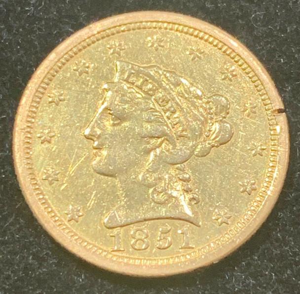 1851-O Liberty Head Quarter Eagle $2.50 Gold