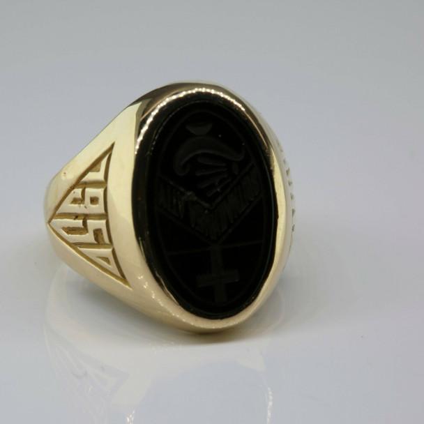 10K Yellow Gold 1950 School Ring Size 5 Circa 1950