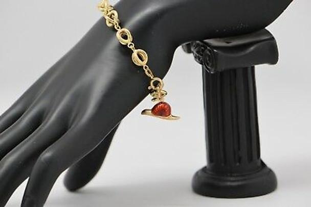 18K Yellow Gold Snail Charm Bracelet, Circa 1970