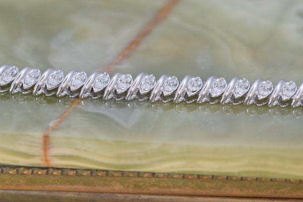 """10K White Gold Diamond Bracelet 2 ct. tw., 7"""" Long"""