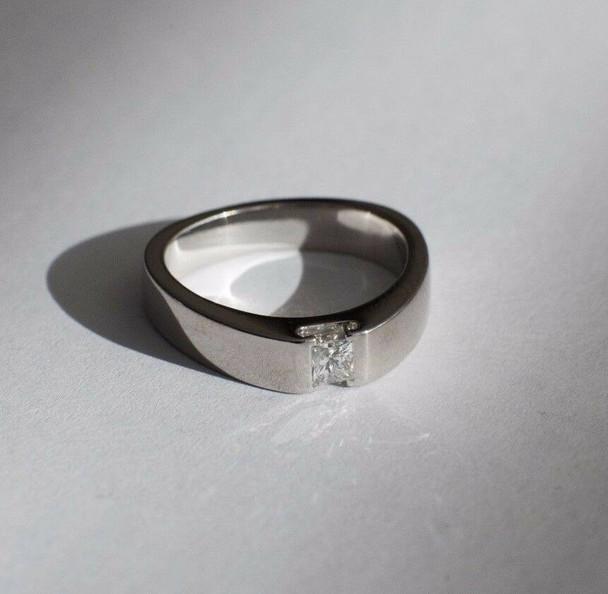 Platinum Georg Jensen engagement ring, estimate 1/3 ct., size 6