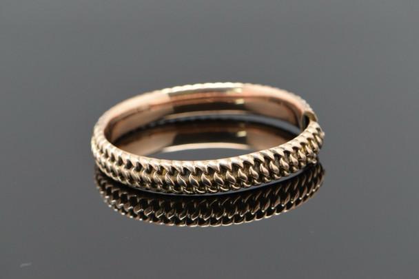 10K Rose Gold Vintage hinged bangle bracelet