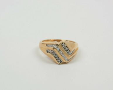ZigZag 14k Solid Gold Ring Modern Design by F\u0130EMMA