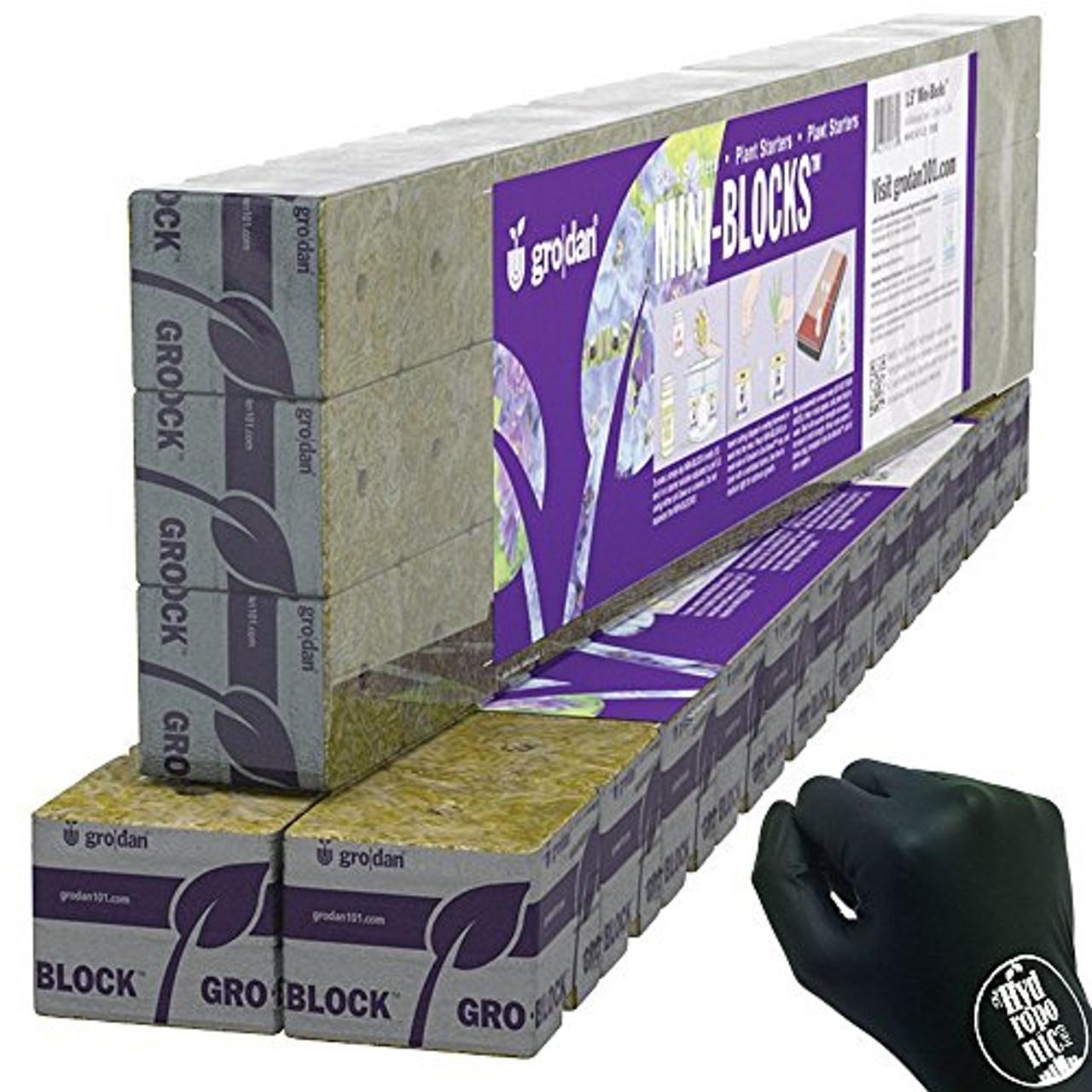 """Grodan stonewool delta starter Mini blocks 1.5"""" x 1.5"""" x 1.5"""" 45 pk"""