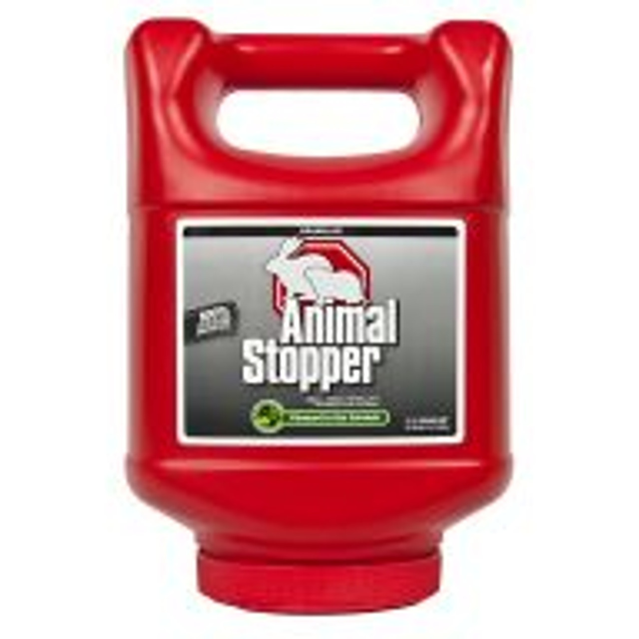 Animal Stopper is a highly effective formula for preventing armadillo, gopher, groundhog, rabbit, raccoon and skunk damage to all shrubs, flowers, edible crops and turf areas. With rosemary oil, mint oil, cinnamon oil and putrescent whole egg solids as active ingredients, this product works by smell, taste and feel. Lasts for approximately 30 days, regardless of weather. Covers an area of 3,600 sq ft.