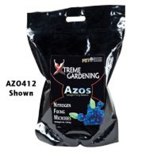 Azos is a beneficial microbe that fixes atmospheric nitrogen, converting it into a form that's available for plant consumption. Azos naturally promotes and sustains plant nutrition, and also does a great job as a rooting solution for new cuttings.