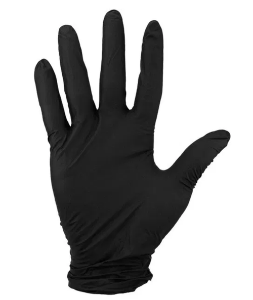 Hand Tech Black Nitrile Powder-Free Gloves - 100 Count