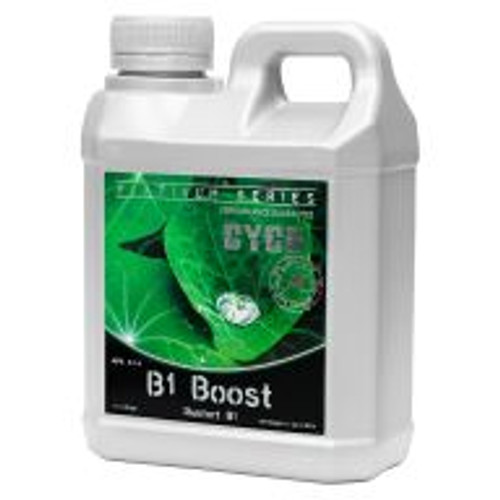"Cyco B1 Boost (2-1-4) helps to stimulate the growth of roots at any time in a plant's life cycle. B1 Boost is seen as an ""insurance policy,"" as it is difficult to determine if an underperforming plant is capable of producing B1 in sufficient amounts. The phosphorus in B1 Boost aids in the process of photosynthesis, the formation of oils, sugars and starches, and it encourages rapid growth and blooming."