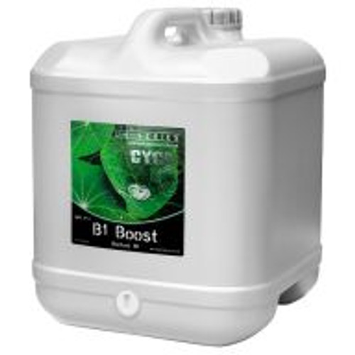 "Cyco B1 Boost helps to stimulate the growth of roots at any time in a plant's life cycle. B1 Boost is seen as an ""insurance policy,"" as it is difficult to determine if an underperforming plant is capable of producing B1 in sufficient amounts. The phosphorus in B1 Boost aids in the process of photosynthesis, the formation of oils, sugars and starches, and it encourages rapid growth and blooming."