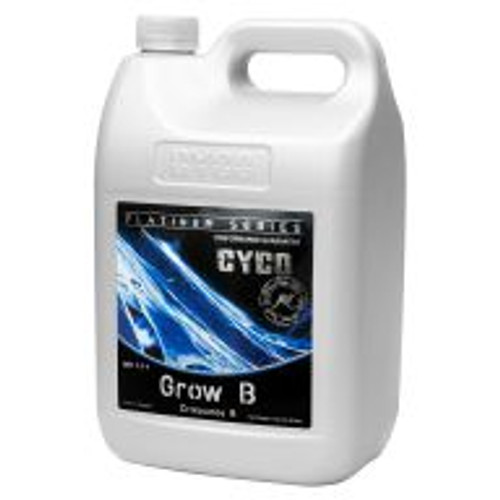 Cyco Grow A and B give support to a plants natural growth by supplying a range of macro and micro nutrients, which are needed to give a plant the best possible start in its early development. Calcium, iron, manganese, copper, sodium and zinc are just a few of the elements in Cyco Grow that combine to support growth, cell development, and fruit quality. A and B formulas are sold separately.