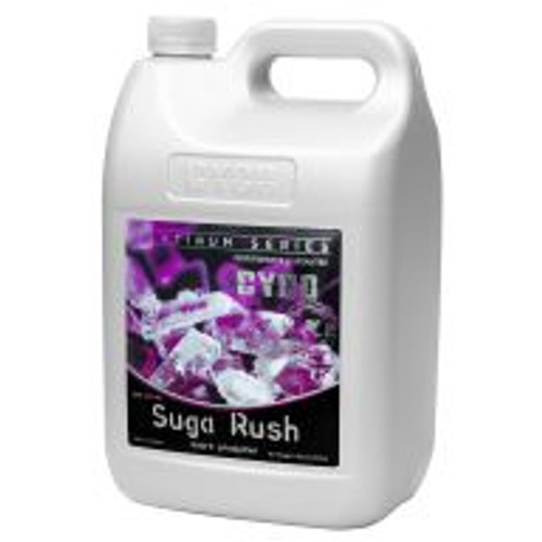 Cyco Suga Rush (0-0.5-0.3)  infuses soilless gardening systems with vital nutrients plants need to bloom to their full potential. This product provides ample phosphorus and potassium to boost photosynthesis, strengthen root systems, and help plants grow rapidly and withstand stress. Use Suga Rush to enhance flowering and ensure the biggest, tastiest fruits your plants can produce.