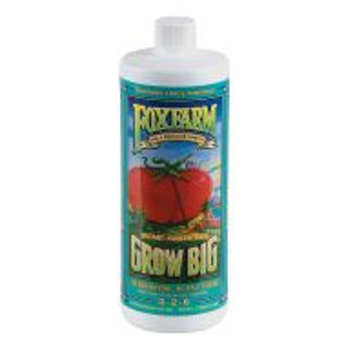 Grow Big® Hydroponic (3-2-6) is a potent, fast-acting, complete fertilizer specially formulated for use in hydroponic growing systems, encouraging vigorous vegetative growth. Containing earthworm castings and Norwegian kelp, this special brew encourages sturdier, healthier stems and leaves, while also providing enough nutrients and trace minerals to create the kind of healthy branching later in the season for more abundant buds and blooms.