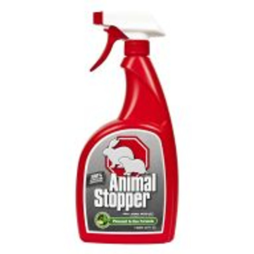 Animal Stopper is a highly effective formula for preventing armadillo, gopher, groundhog, rabbit, raccoon and skunk damage to all shrubs, flowers, edible crops and turf areas. With rosemary oil, mint oil, cinnamon oil and putrescent whole egg solids as active ingredients, this product works by smell, taste and feel. Lasts for approximately 30 days, regardless of weather. Covers an area of 1,000 sq ft.