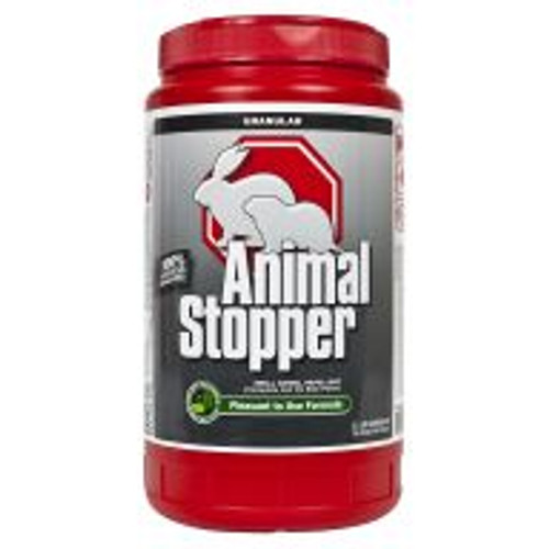 Animal Stopper is a highly effective formula for preventing armadillo, gopher, groundhog, rabbit, raccoon and skunk damage to all shrubs, flowers, edible crops and turf areas. With rosemary oil, mint oil, cinnamon oil and putrescent whole egg solids as active ingredients, this product works by smell, taste and feel. Lasts for approximately 30 days, regardless of weather. Covers an area of 1,800 sq ft.