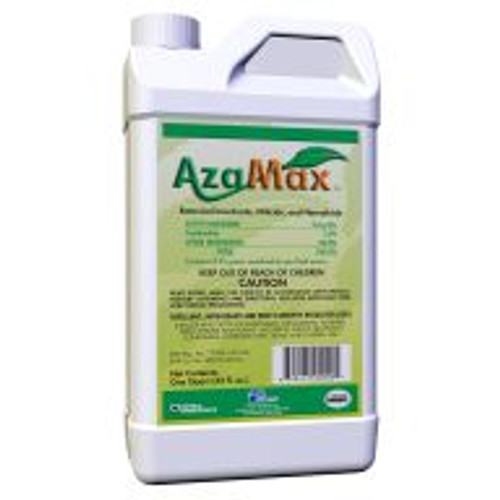 Azamax is a broad-spectrum organic insecticide that controls pests like mites, aphids, whiteflies, caterpillars, thrips, grasshoppers and more! Its active ingredient, a natural derivative of the neem tree, is safe enough for application in any high people-traffic area. It's also great as an additive to other insecticides, as it makes pests more vulnerable to them.