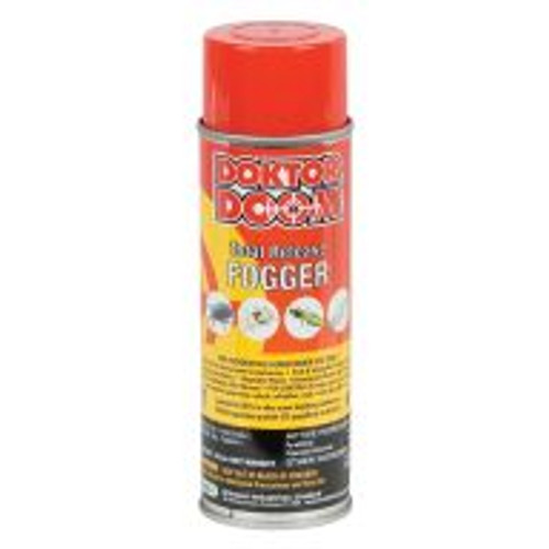 """Direct gardeners who want to get rid of garden pests to the Doktor Doom Total Release Fogger. The active ingredient, pyrethrin, is derived from chrysanthemums and proven to successfully control spider mites, aphids, whiteflies, fungus gnats, and more. When used as directed, this fogger is safe for use in greenhouses and indoor gardens, around all plants including fruits, vegetables, and ornamentals. 5.5-ounce can treats a 5,500 cubic foot area. For application information, visit <a href=""""http://www.doktordoom.com/php/application_tips.php?lang=English"""" target=""""blank"""">http://www.doktordoom.com/php/application_tips.php?lang=English</a>"""