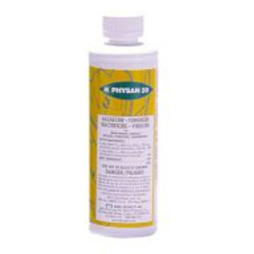 Physan 20 is an algaecide, fungicide, bactericide and virucide with an incredibly wide range of applications. Use Physan 20 to control algae anywhere in the greenhouse including floors, walls, walkways, benches, trays, pots, wicks, capillary matting and buckets. Use it on algae in fountains, decorative water displays, pools and evaporation coolers. Physan 20 can be used to treat a variety of diseases affecting lawns, turf, and grass, including Fairy Ring, Dollar Spot, and toadstools. Not recommended for edible crops.