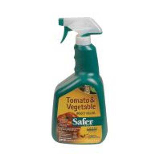 Tough on insects, gentle on plants, Tomato & Vegetable Insect Killer® targets whiteflies, caterpillars, aphids, tomato hornworm and more. Tomato & Vegetable Insect Killer uses a blend of insecticidal soap and botanical pyrethrins which quickly break down to innocuous compounds. This product is hazardous to people and domestic animals if absorbed through the skin.