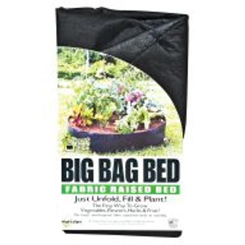 """The Big Bag Bed offers all the benefits of a Smart Pot in a raised garden bed. This weatherproof bed requires no laborious installation and folds out to offer 13.5 square feet of gardening space that lasts for years. It warms quickly in the Spring, releases excessive heat in the Summer, and provides good drainage all year long. The Big Bag Bed also air prunes roots while protecting plants from underground pests like gophers and moles. Dimensions: 50"""" W x 12"""" H. 100 gallon capacity."""