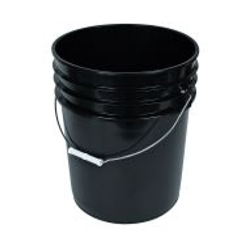 The all-purpose Black Bucket is a household essential. Made of food-grade plastic, this utility bucket has a five-gallon capacity and metal handle to ease transport.