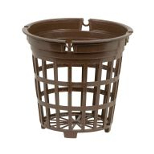 These Brown Net Cups are slightly thinner than Net Pots and also feature large mesh. Ideal for use with Hydroton.