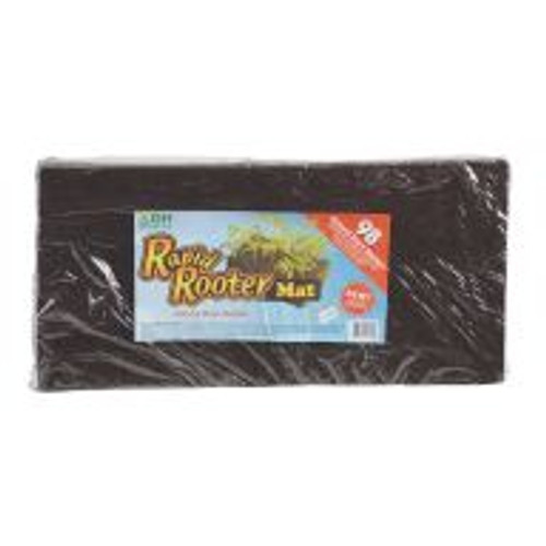 Easily establish cuttings or germinate seeds with the 98 site Rapid Rooter Mat. The Rapid Rooter Mat is made of composted tree bark that's rich in beneficial microbes. Instead of preformed holes, each plug features a cross cut for trouble free placement of seeds and starts. Keep the Rapid Rooter Mat intact for larger propagation projects or separate a grouping of plugs along a perforated edge for smaller undertakings.