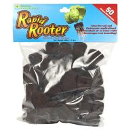 Rapid Rooter combines composted organic material with plant-derived polymers to provide ideal conditions for beneficial microbes to thrive in the root zone of developing plants. This gives plants a head-start that results in excellent growth potential during the life of the plant. These are replacement plugs that fit the Rapid Rooter Starter Tray.