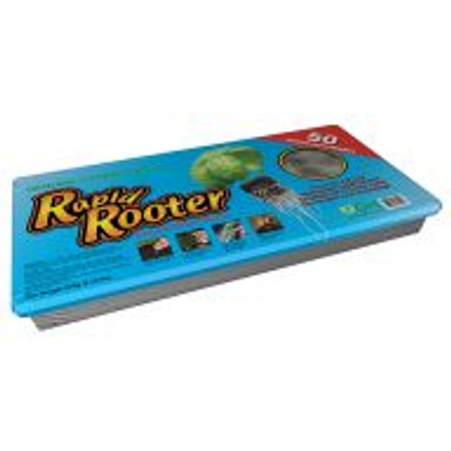 Rapid Rooter combines composted organic material with plant-derived polymers to provide ideal conditions for beneficial microbes to thrive in the root zone of developing plants. This gives plants a head-start that results in excellent growth potential during the life of the plant. This is a complete Rapid Rooter Starter Tray with 50 cells, plugs included.