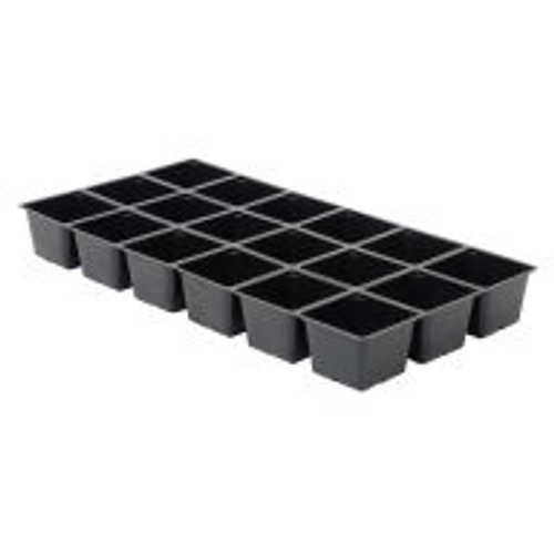 Standard Flat Insert works with either short or tall Nursery Tray Domes. Has 18 compartments to use.