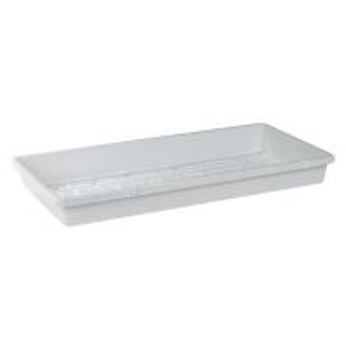 This standard white flat is suitable for use with short or tall nursery tray domes. Does not include drainage holes.