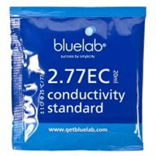 Bluelab EC Solution is used as a reference or checking solution to ensure the cleanliness and proper functionality of EC/CF probes.