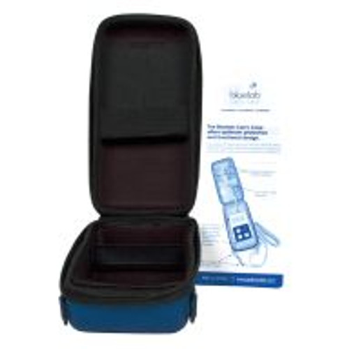 The Bluelab Meter Carry Case allows users to take readings without removing the meter from its protective case. An adjustable nylon strap can be used to hang the case and meter on the wall or over a shoulder so only the probe goes near the nutrient solution. The case's firm shell with zipper closure protects the meter against accidental impact, and the net pocket and straps inside keep the meter and probes securely in place.