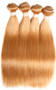 Brazilian Honey Blonde Straight Hair Extensions