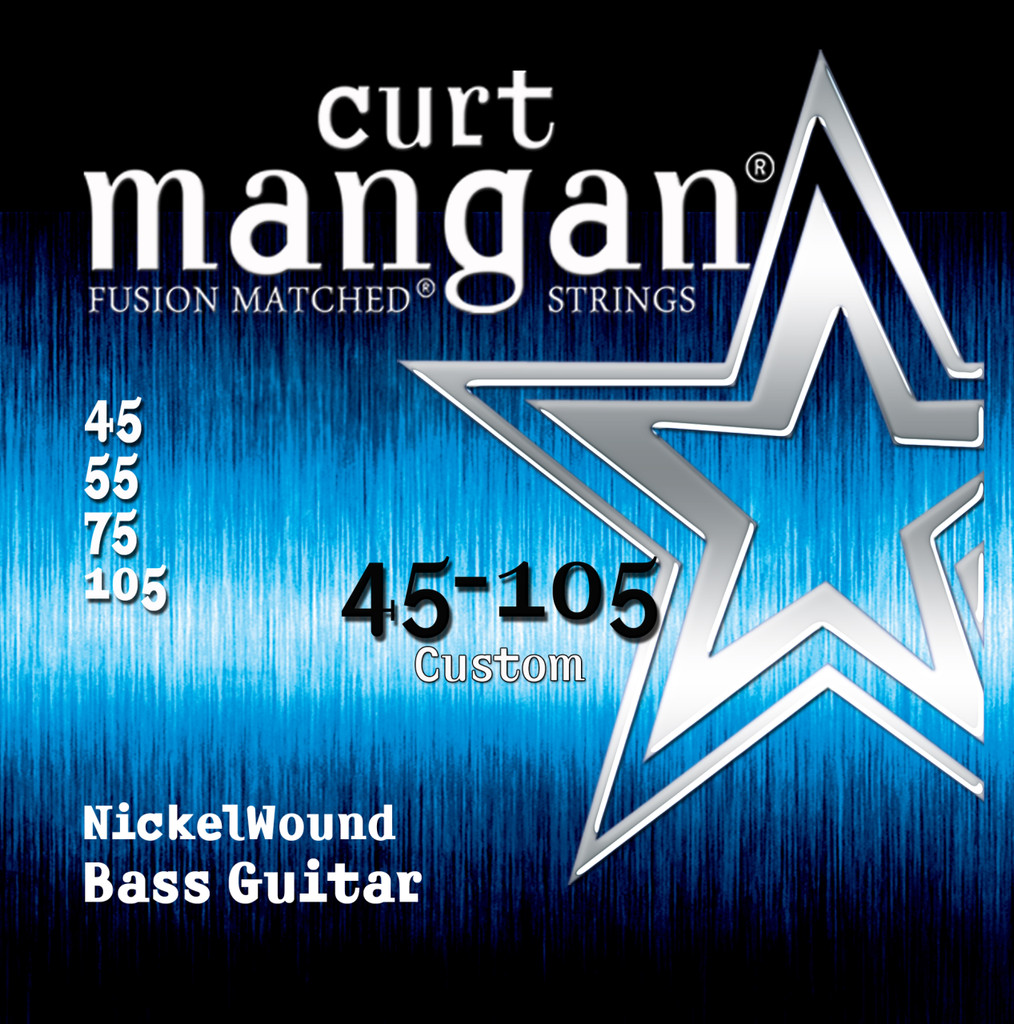Custom 45-105 Nickel Wound Light 4-String Bass Guitar String Set