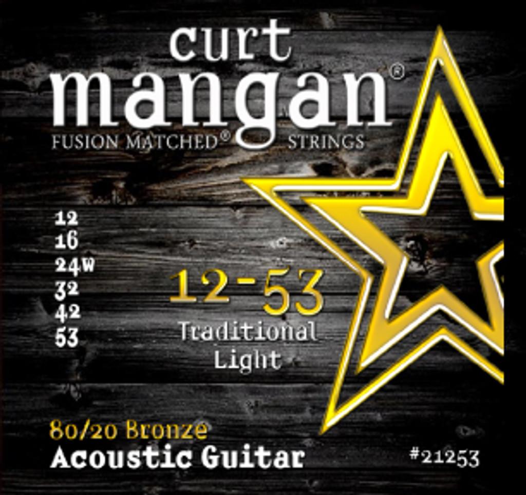 12-53 80/20 Traditional Light Acoustic Guitar Set
