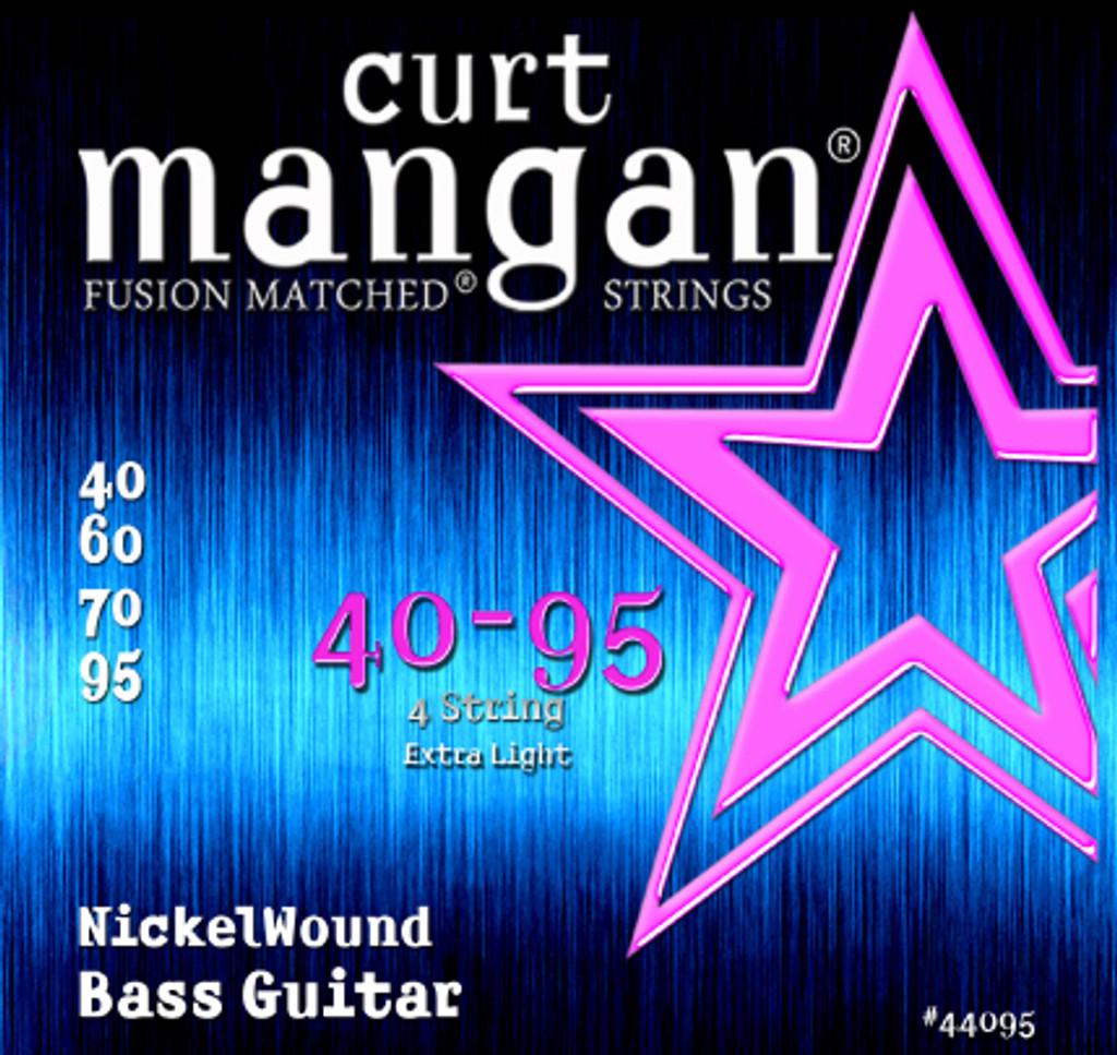 40-95 Nickel Wound Extra Light 4-String Bass Set