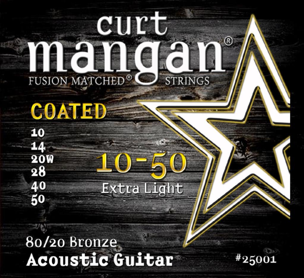 10-50 80/20 Bronze Extra Light COATED Acoustic Guitar String Set