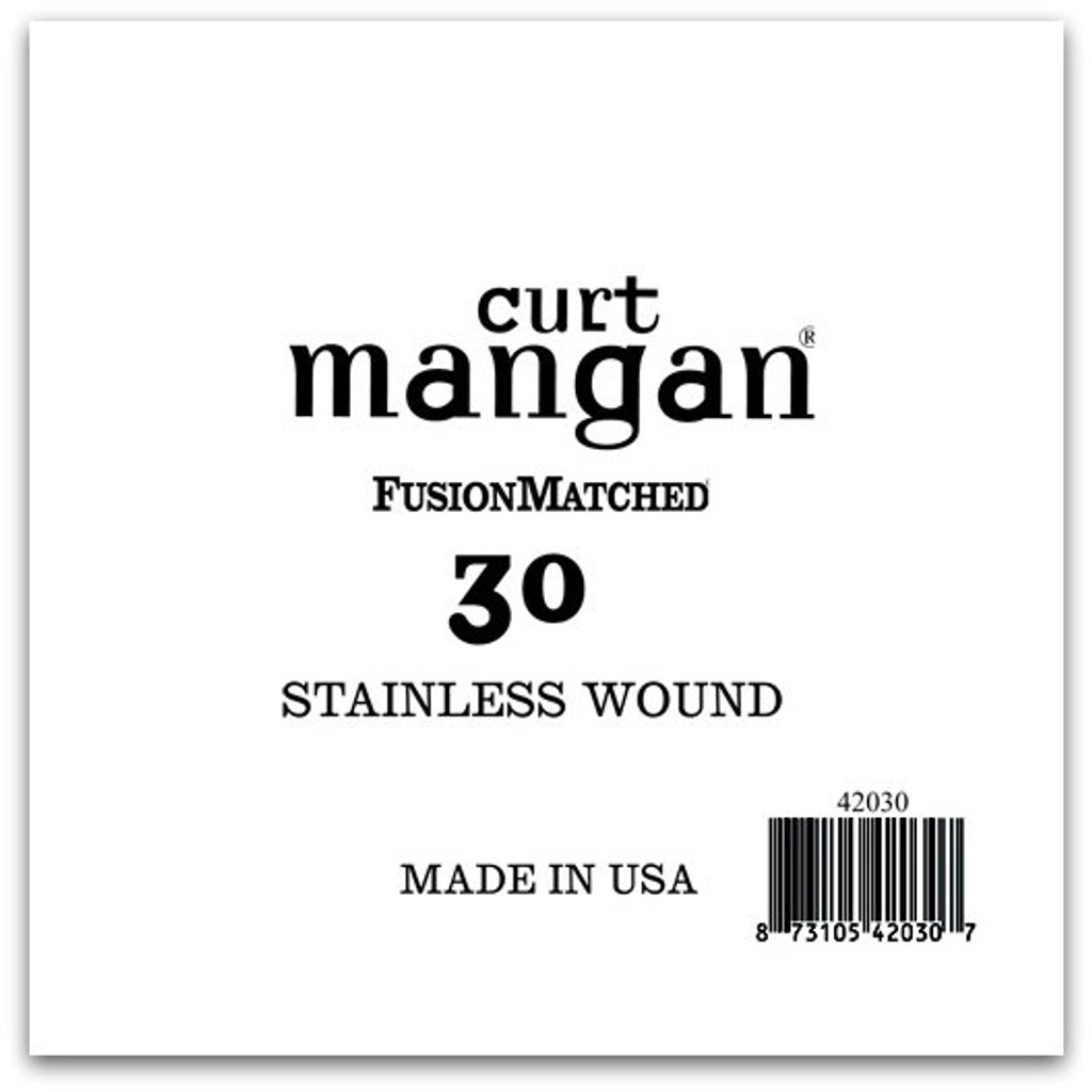 30 Stainless Wound Bass Single String