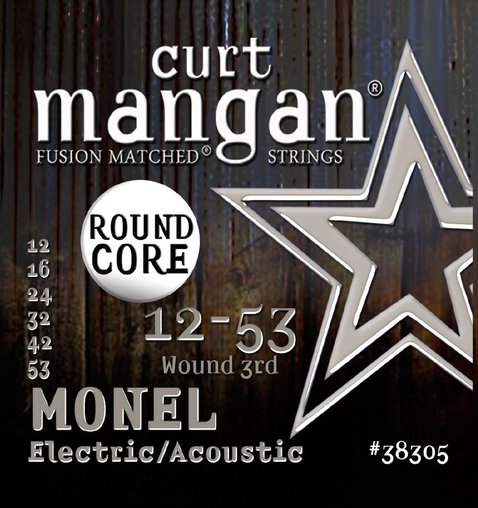 12-53 Monel Round Core Guitar String Set