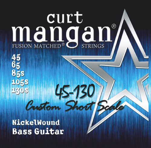 45-130 Short Scale Nickel Wound 5-String Bass Set