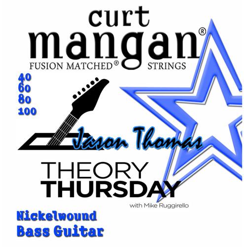 40-100 Theory Thursday's Jason Thomas Nickel Bass Set 4-String