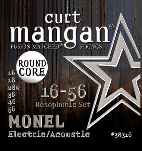 16-56 Medium Monel Round Core Resophonic Set