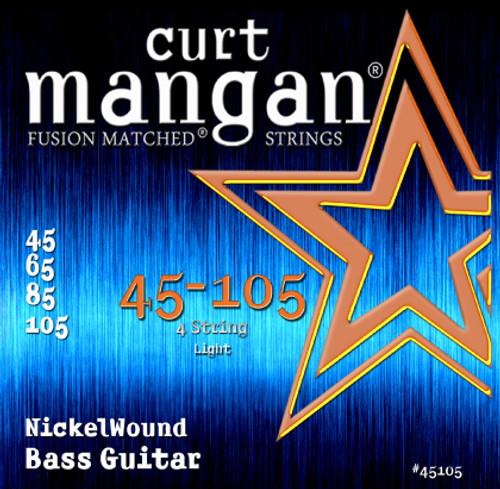 45-105 Nickel Wound Light 4-String Bass Guitar String Set