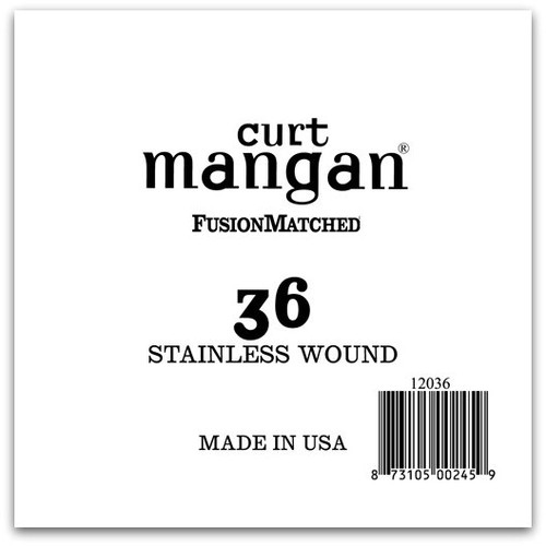 36 Stainless Wound Ball End Single String