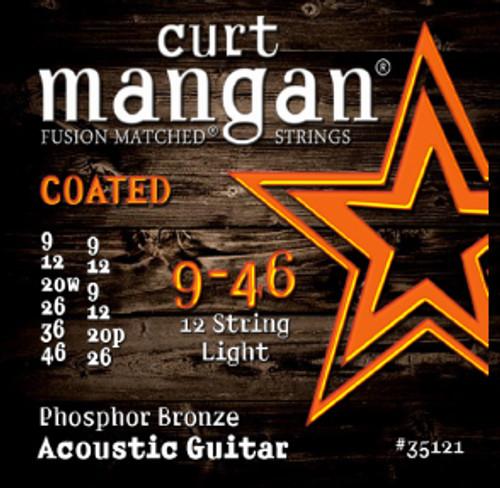 09-46 12-String PhosPhor Light COATED Acoustic Guitar Strings