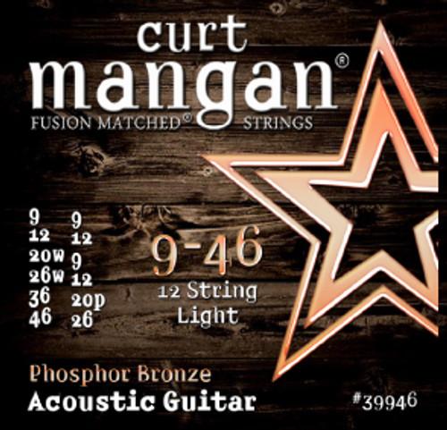 9-46 12-String Light PhosPhor Bronze Acoustic Guitar String Set