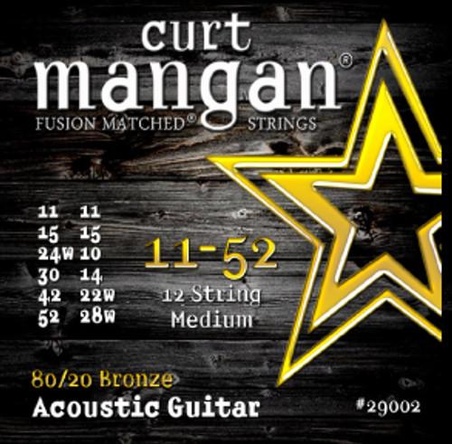 11-52 12-String Medium 80/20 Bronze Acoustic Guitar String Set