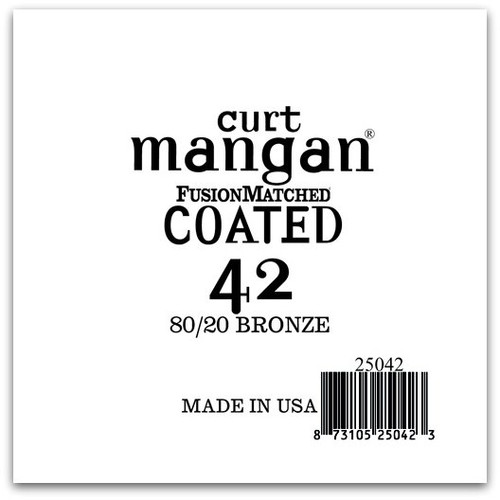 42 80/20 Bronze COATED Single String